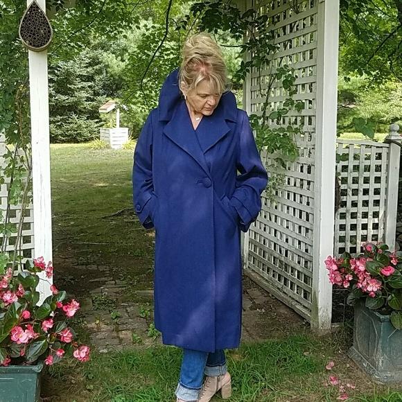 Custom Made Jackets & Blazers - 1950's Vintage Custom Made Wool Swing Coat